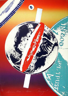 Spinning Faces in Space 1972 Limited Edition Print by James Rosenquist