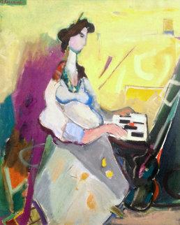 Piano Concerto #1 1922 33x29 Original Painting - Moshe Rosenthalis