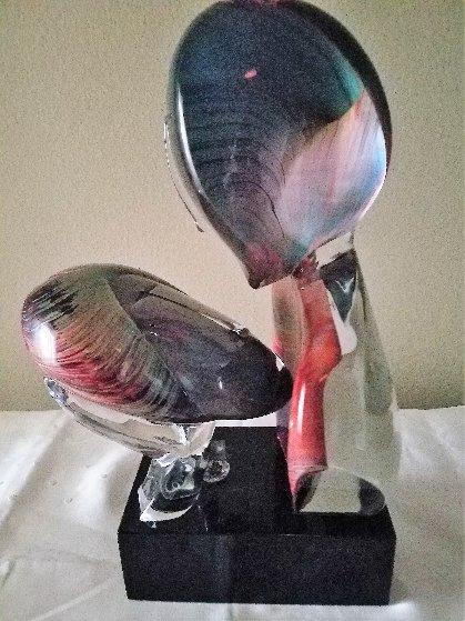 Il Bacio/ the Kiss Unique Glass Sculpture 1997 21 in Sculpture by Dino Rosin