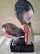 Il Bacio/ the Kiss Unique Glass Sculpture 1997 21 in Sculpture by Dino Rosin - 0