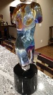 Athena Unique Glass Sculpture (Rare) 2007 22 in Sculpture by Dino Rosin - 2