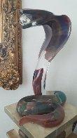 Cobra   Glass Sculpture  2000 21 in Sculpture by Dino Rosin - 1