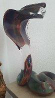 Cobra   Glass Sculpture  2000 21 in Sculpture by Dino Rosin - 5