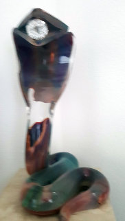 Cobra   Glass Sculpture  2000 21 in Sculpture - Dino Rosin