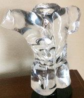 Adonis Unique Glass Sculpture 12 in Sculpture by Dino Rosin - 0