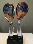 Lovers Glass Sculpture 24 in Sculpture - Dino Rosin