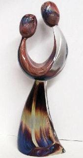Just Friends Unique Glass Sculpture 1998 26 in Sculpture - Dino Rosin
