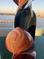 Double Ribbon Unique Glass Sculpture 39 in Sculpture by Dino Rosin - 5