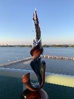Double Ribbon Unique Glass Sculpture 39 in Sculpture by Dino Rosin - 7