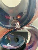 Double Ribbon Unique Glass Sculpture 39 in Sculpture by Dino Rosin - 13