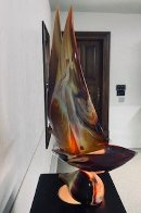 Sailboat Glass Sculpture 32 in Sculpture by Dino Rosin - 2