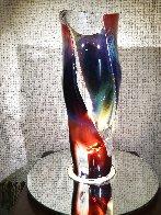 Vaso E Calcedonia  - Unique Glass Sculpture 19 in  Sculpture by Dino Rosin - 0