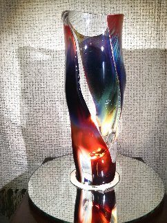 Vaso E Calcedonia  - Unique Glass Sculpture 19 in  Sculpture - Dino Rosin