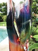Vaso E Calcedonia  - Unique Glass Sculpture 19 in  Sculpture by Dino Rosin - 9