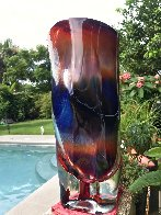 Vaso E Calcedonia  - Unique Glass Sculpture 19 in  Sculpture by Dino Rosin - 10