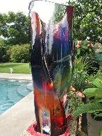 Vaso E Calcedonia  - Unique Glass Sculpture 19 in  Sculpture by Dino Rosin - 11