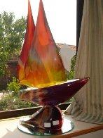 Sailboat Glass Unique Sculpture 2008 30 in Sculpture by Dino Rosin - 4