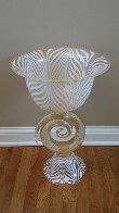 Vetro Artistico Murano Glass Vase/Bowl Sculpture 2008 24 in 24k gold Sculpture by Dino Rosin - 1