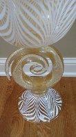 Vetro Artistico Murano Glass Vase/Bowl Sculpture 2008 24 in 24k gold Sculpture by Dino Rosin - 3