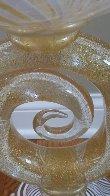 Vetro Artistico Murano Glass Vase/Bowl Sculpture 2008 24 in 24k gold Sculpture by Dino Rosin - 4