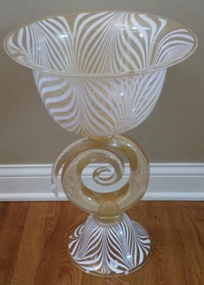 Vetro Artistico Murano Glass Vase/Bowl Sculpture 2008 24 in 24k gold Sculpture by Dino Rosin