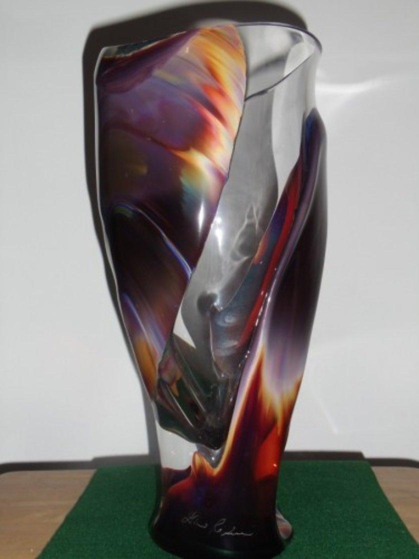 Vaso E Calcedonia  Unique Glass Vessel 2010 15 in Sculpture by Dino Rosin
