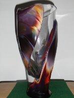Vaso E Calcedonia  Unique Glass Vessel 2010 15 in Sculpture by Dino Rosin - 0