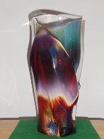 Vaso E Calcedonia  Unique Glass Vessel 2010 15 in Sculpture by Dino Rosin - 1