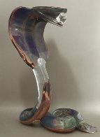 Cobra Glass Sculpture Unique 21 in Sculpture by Dino Rosin - 0
