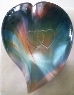 Heart Glass Sculpture 8 in Sculpture - Dino Rosin