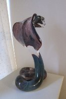 Cobra Glass Sculpture Unique 18 in Sculpture by Dino Rosin - 4