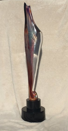 Firebird Glass Sculpture Unique 2005 28 in Sculpture by Dino Rosin