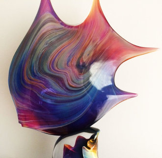 Pesce - Fish Glass Sculpture 25 in Sculpture by Dino Rosin