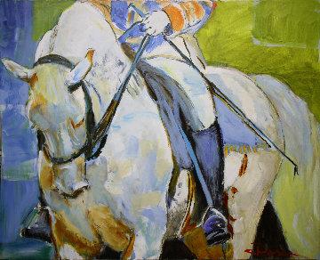 White Magic 54x68 Original Painting - Colleen Ross