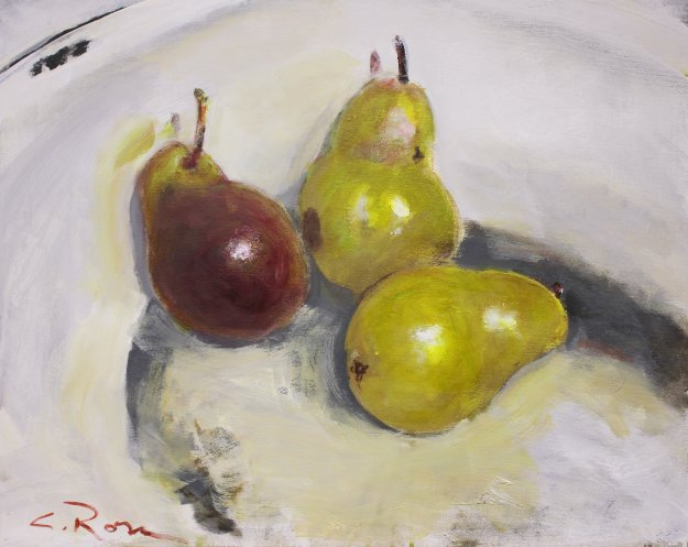 Pears Study I 2018 24x30 Original Painting by Colleen Ross