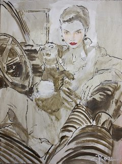Come Take a Ride 2002 40x30 Super Huge Original Painting - Colleen Ross