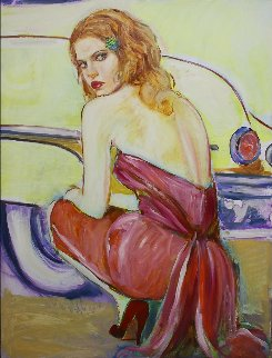 Waiting For You 2007 48x36 Super Huge Signed Twice Original Painting - Colleen Ross