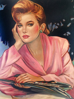 Think of Me 1989 40x28 Huge Original Painting - Colleen Ross