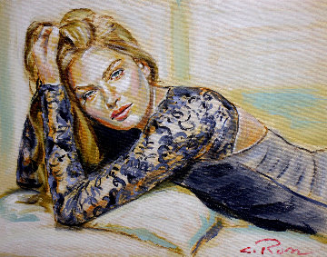 Lacy 2019 14x18 Original Painting - Colleen Ross