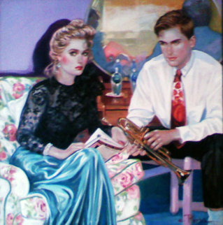 Do you Remember 1991 48x48 Huge Original Painting - Colleen Ross