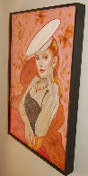 Untitled (Woman With Hat) 37x25 Original Painting by Colleen Ross - 2