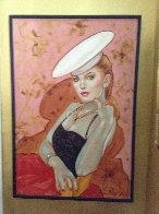 Untitled (Woman With Hat) 37x25 Original Painting by Colleen Ross - 1