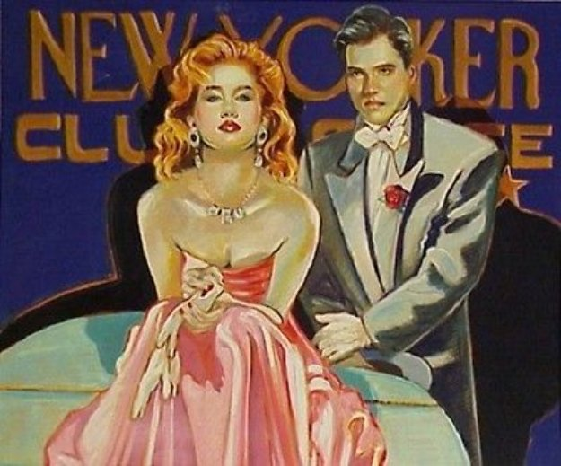 New Yorker Club 43x49 Limited Edition Print by Colleen Ross