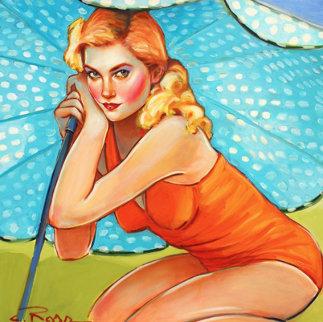 Tangerine Dream 44x44 Original Painting - Colleen Ross