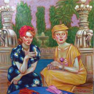 Same Time Next Year 1999 48x48 Original Painting - Colleen Ross