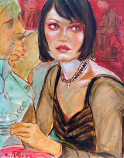 Redlight Room 2005 20x16 Original Painting by Colleen Ross