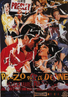 Girl Happy AP Limited Edition Print by Mimmo Rotella