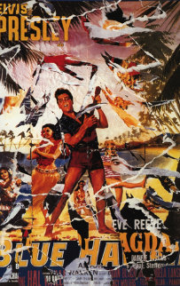 Blue Hawaii (Elvis) Limited Edition Print by Mimmo Rotella