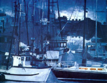 Harbor at Night Limited Edition Print by G.H Rothe