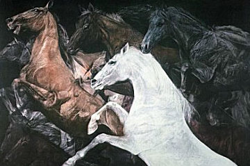 While They Were Running 1981 Limited Edition Print by G.H Rothe